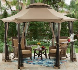 Outdoor Screened Gazebo-Better Homes & Gardens Southern Pines 12 foot Gazebo