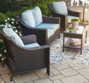 Hawthorne Outdoor 4-Piece Wicker Seating Set