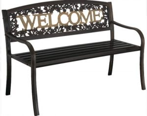 Leigh Country Outdoor Metal Welcome Bench