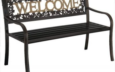 Metal Garden Bench Seating for Two