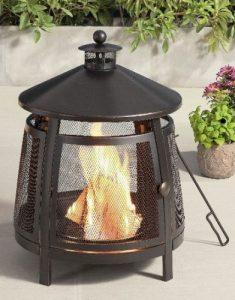 Mainstays 22-Inch Round Steel Wood Burning