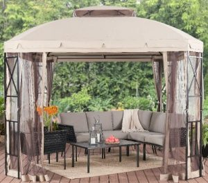Outdoor Screened Gazebo-Mainstays Alton Heights 10' x 10' Gazebo