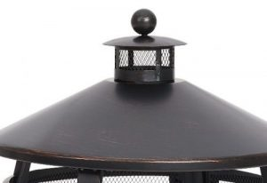 Chiminea Outdoor Fireplace-Mainstays Chiminea chimney