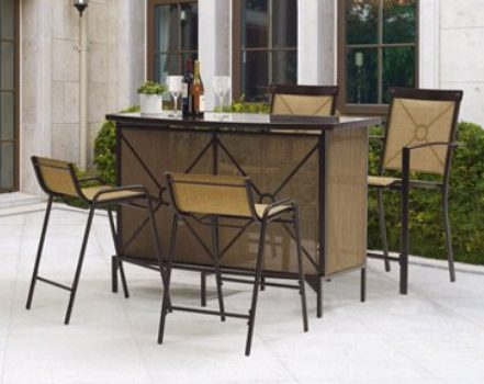 Mainstays Palmerton Landing Bar Height Patio Dining Set