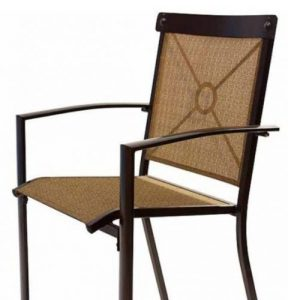 Outdoor Bar Height Dining Sets-Mainstays Palmerton Landing Sling Bar Chair with back