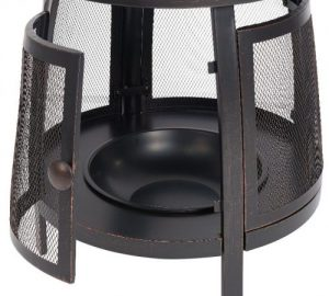Chiminea Outdoor Fireplace-Mainstays chiminea fire bowl and door