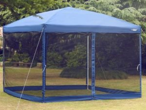 Outdoor Screened Gazebo-Pop up Canopy with Netting Screen