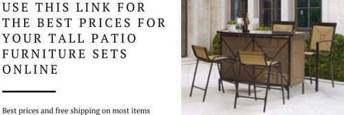 Tall patio furniture for dining