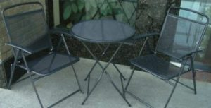 Wrought Iron folding bistro set