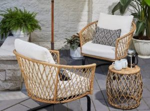 Wicker Patio Furniture Sets-Better Homes and Gardens Ventura Boho Chat Set