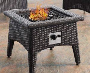Patio Set with fire pit-Convene gas fire pit