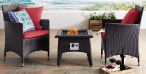 Patio Set with fire pit-Convene 3 Piece Set with fire pit