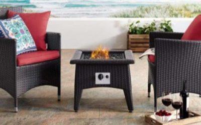 Convene 3 Piece Patio Set with Fire Pit