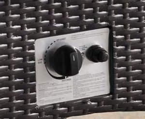 Convene fire pit control panel