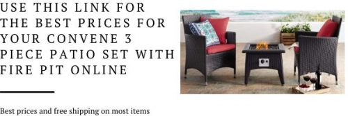 Convene patio chat set with fire pit
