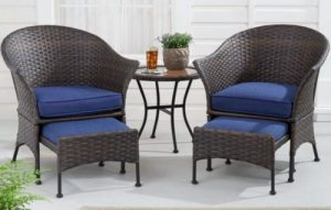 Wicker Patio Furniture Sets-Mainstays Arlington Glen Leisure Set
