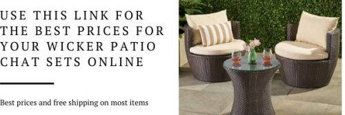 Wicker patio chat sets