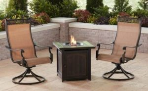 Hanover Monaco chat set with firepit
