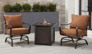 Hanover Summer Nights chat set with firepit