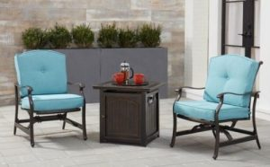Hanover Traditions Chat set with firepit