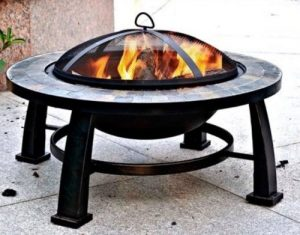 Wood Burning Patio Fire Pits-Dover 30 inch round