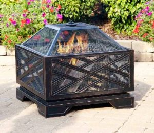 Wood Burning Patio Fire Pits-Pleasant Hearth 26 inch square