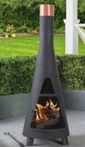 Wood Burning Patio Fire Pits-Steel Chiminea