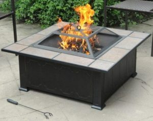 Wood Burning Patio Fire Pits-Axxonn Tuscan Square tile top