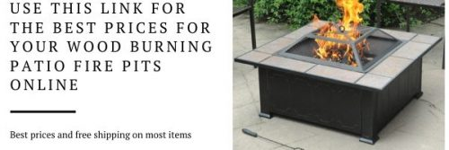 Wood Burning Patio Fire Pits