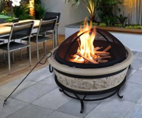 Concrete Fire PIts-Peaktop 27-inch wood burner