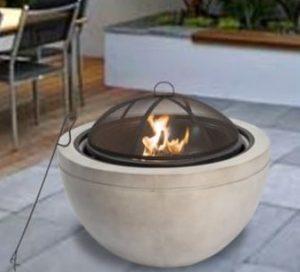 Peaktop 30-inch round wood burner
