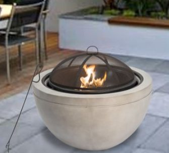 Concrete Fire PIts-Peaktop 30-inch round wood burner