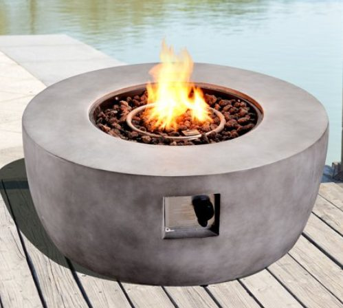Concrete Fire Pits-Peaktop-36-inch-round