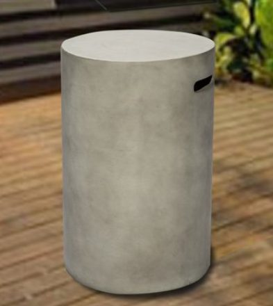 Concrete Fire PIts-Peaktop round tank storage table