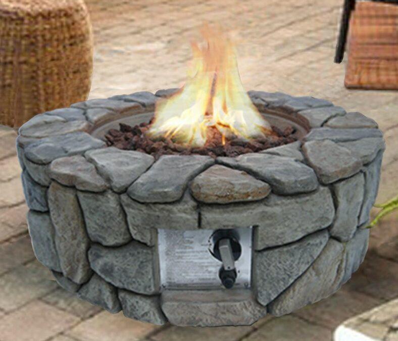 Peaktop – Round Gas Backyard Rock Fire Pit