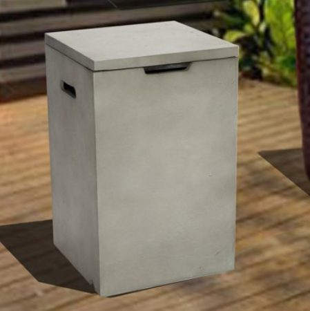 Concrete Fire PIts-Peaktop square tank storage table
