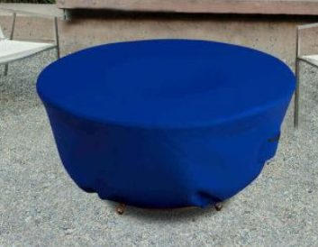 Backyard Fire Pit Accessories-fire pit cover blue