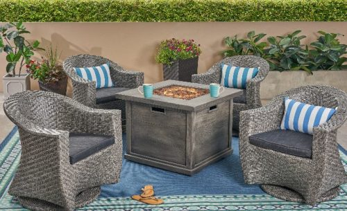 Briar Four Swivel Chairs and Fire Pit Review