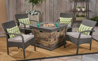 Capitan Seating with Stone Finished Fire Pit Review