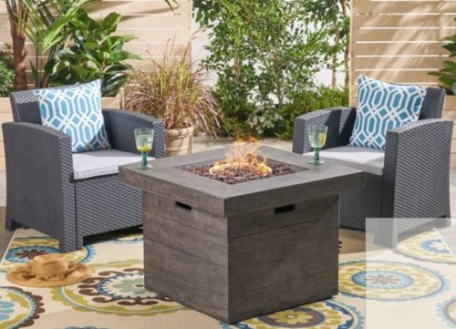 10 Ideas for Your Outdoor Wicker Furniture with Fire Pit