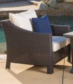 Patio set with fire pit-Gregory club chair with cushions