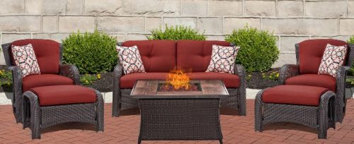 Strathmere lounge set with ottomans