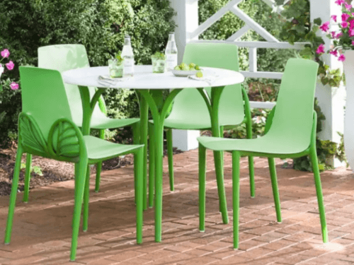 Best Patio Dining Sets-Butterfly green and white