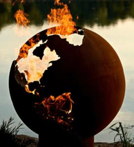 Globe-fire-pit