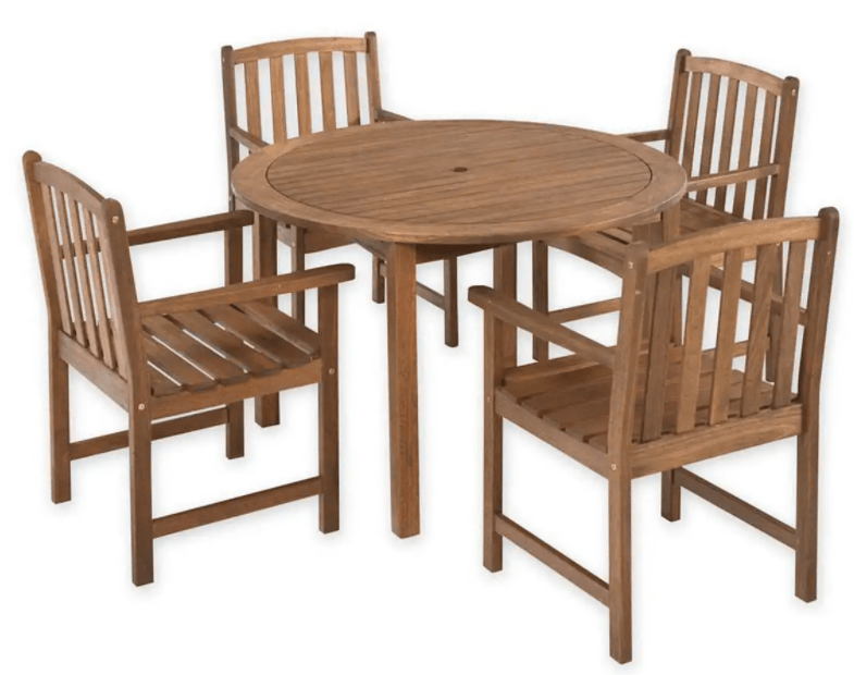 Best Patio Dining Sets-Lancaster Eucalyptus wood