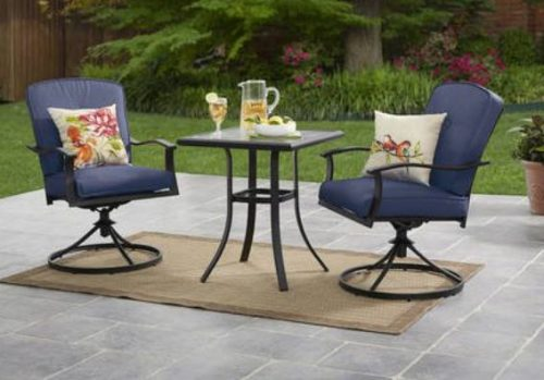 Mainstays Belden Park Bistro Set Blue