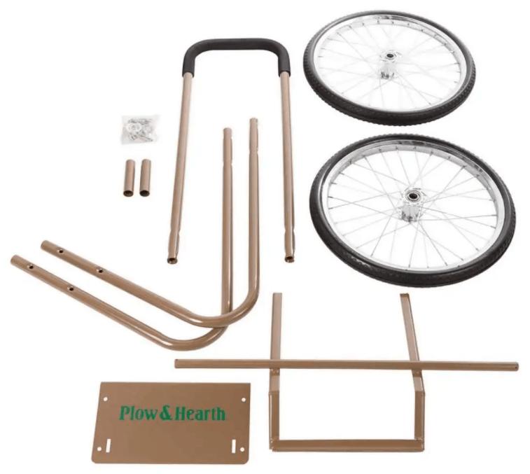 Wood Cart With Wheels-Big wheel wood cart