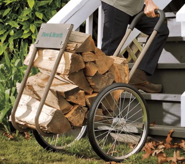 Big-wheeled-rolling-wood-cart