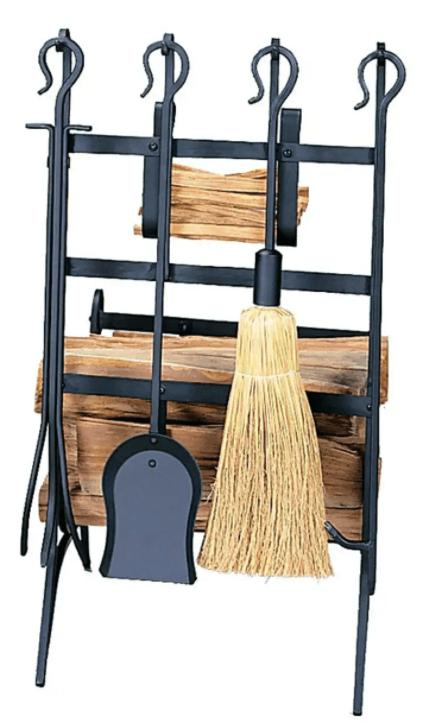 Black Wrought Iron wood rack