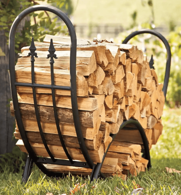 Curved wood rack